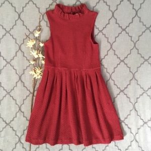 NWT-Chic Brick Red Ruffle Pinnacle Ganni Dress